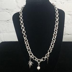 Kendra Scott Silvertone Charm Necklace